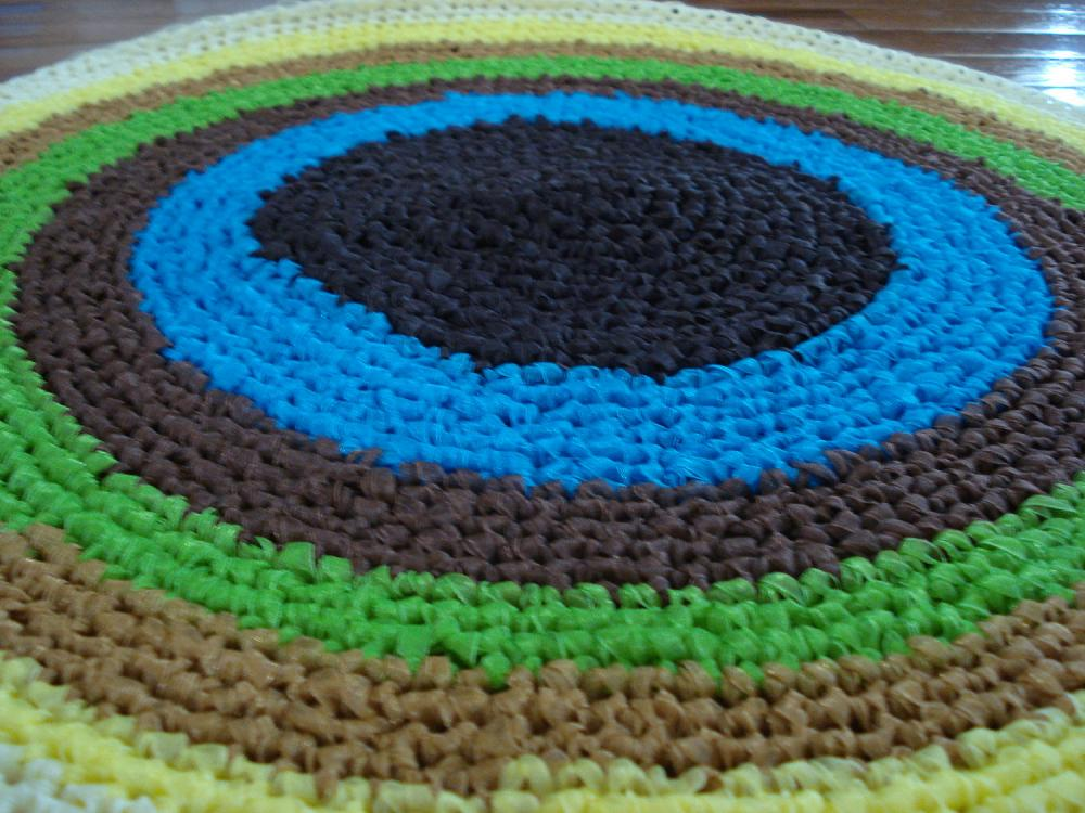 Ready to ship /Gorgeous one of a kind Handmade CROCHET From RIBBON RUG