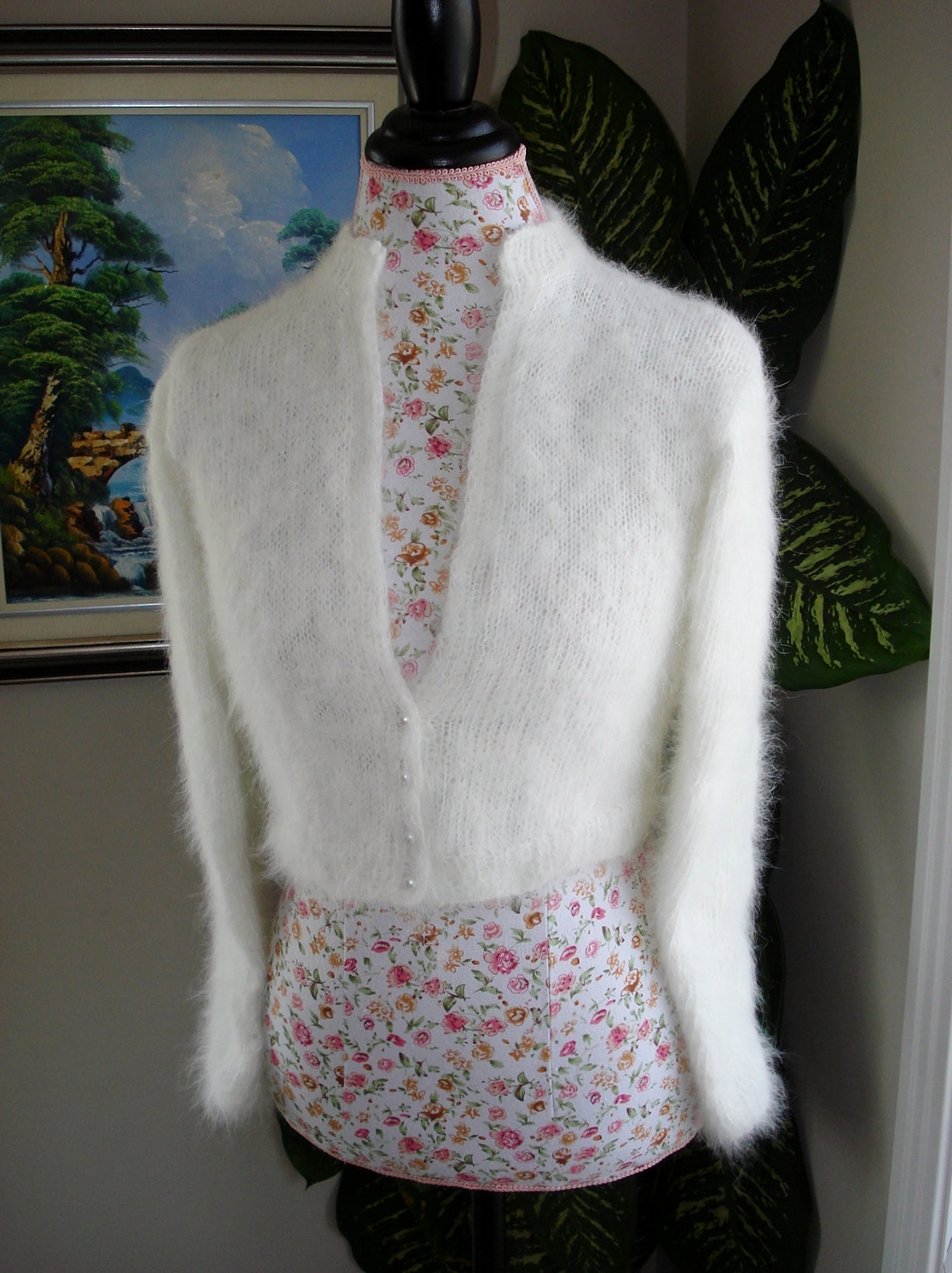 Kate Middleton Angora Bolero/ Bridal Bolero/ BLACK/WHITE/IVORY/ Size ...